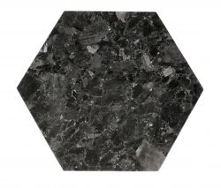Dienblad Kristal Labradoriet 30 x 35 cm | Zwart