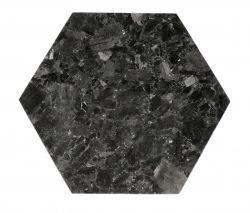 Tray Crystal Labradorite 30 x 35 cm | Black