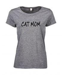 T-shirt Cat Mom | Grey