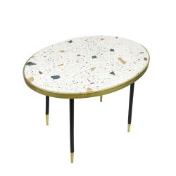 Genuine Side Table H 49 cm | Beige