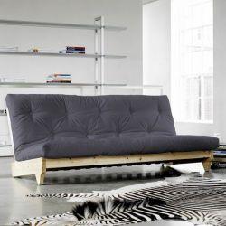 Sofa/Bett Frischer Naturrahmen | Grau