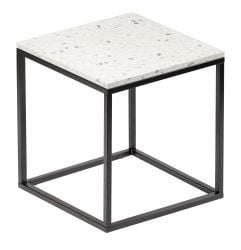Table d'Appoint Bianco 50 x 50 cm | Blanc