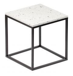 Side Table Bianco 50 x 50 cm | White