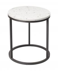 Round Side Table Bianco Ø 50 cm | White