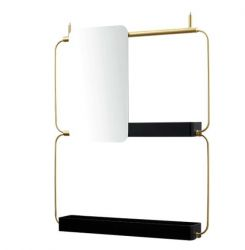 Modular Shelf Nudo | Gold Mirror Left