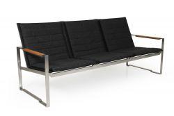 3-Sitzer-Sofa Gotland | Schwarz