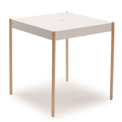 TW/670x670 La Table Table Empilable | Blanc RAL 9019