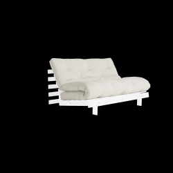 Sofa Bed Roots 140 | White/Natural