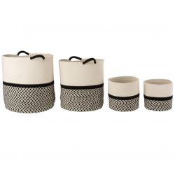 Cotton baskets Set of 4 | Black