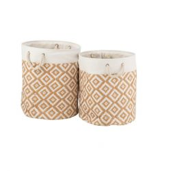 Set of Two Baskets | Paper Cotton