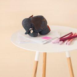 Desk Buddy Mrs. Rosie the Elephant | Denim