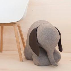 Türstopper Frau Rosie der Elefant | Grauer Filz
