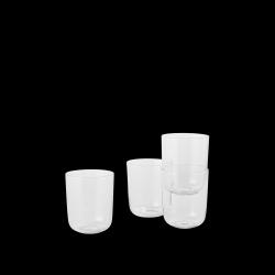 4er-Set Corky-Gläser | Klar - Niedrig