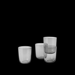 4er-Set Corky-Gläser | Grau - Hoch