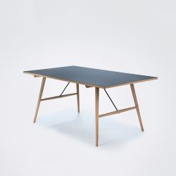 Dining Table Hekla | Black Linoleum / Oak