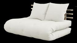 Sofabett Schienbein Sano | Natürlicher Rahmen | Natürliche