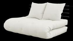 Sofabett Schienbein Sano | Schwarzer Rahmen | Natur