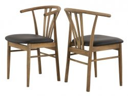 Dining Chair Baron | Smoked Oak & Black