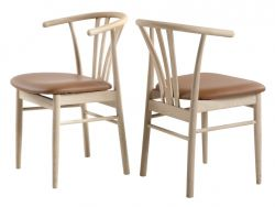 Dining Chair Baron | White Oak & Cognac