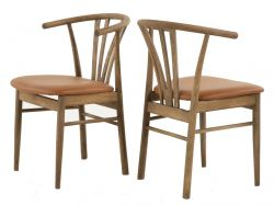 Dining Chair Baron | Smoked Oak & Cognac
