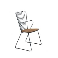 Outdoor Dining Chair Paon | Black