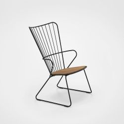 Outdoor Lounge Chair Paon | Black