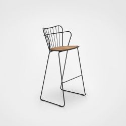Outdoor Bar Stool Paon | Black