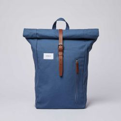Backpack DANTE | Dusty Blue with Cognac Brown Leather