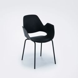 Falk Dining Chair with Armrest | Black