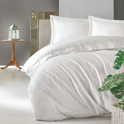 Duvet Cover Elegant 240 x 220 cm / Pillow Cover 50 x 80 cm | White