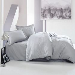 Duvet Cover Elegant 200 x 200 cm / Pillow Cover 80 x 80 cm | Grey