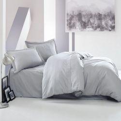 Bettbezug Elegant 240 x 220 cm / Kissenbezug 60 x 70 cm | Grau