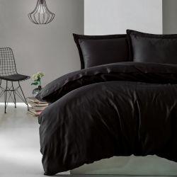 Bettbezug Elegant 240 x 220 cm / Kissenbezug 60 x 70 cm | Scwharz