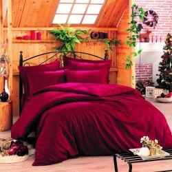 Bettbezug Stripe 240 x 220 cm / Kissenbezug 60 x 60 cm | Rot
