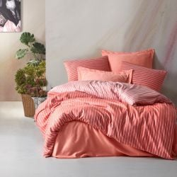 Duvet Cover Set | Bamboo Salmon