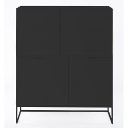 Armoire Xian 110x45x130 | Noir Mat