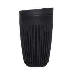 Tasse de Café Réutilisable + Couvercle Huskee 36 cl | Gris Foncé