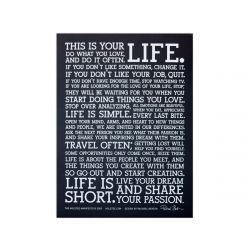 Holstee Manifesto Poster Small | Black