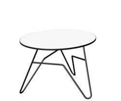 Twist Round Table White | Small