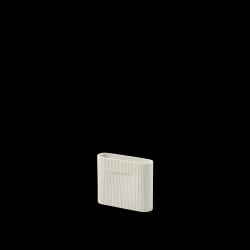 Vase Ridge H 16.5 cm l Cremeweiß