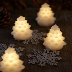 Led Lights Clara Tree 7 cm | Set of 4 | White