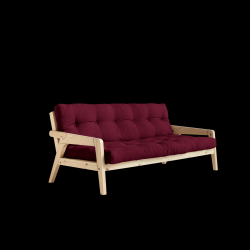 Sofabed Grab | Natural Frame + Bordeaux Mattress