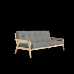 Sofabed-Greifer | Natürlicher Rahmen + graue Matratze