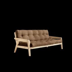 Sofabed-Greifer | Natürlicher Rahmen + Mocca-Matratze