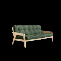 Sofabed Grab | Natural Frame + Olivgrün Mattress