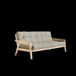 Sofabed Grab | Natural Frame + Linen Mattress