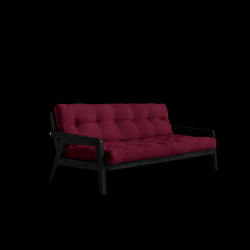 Sofabed Grab | Black Frame + Bordeaux Mattress
