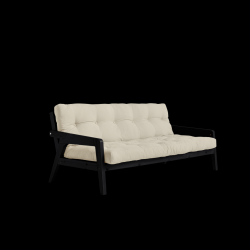 Sofabed Grab | Black Frame + Beige Mattress