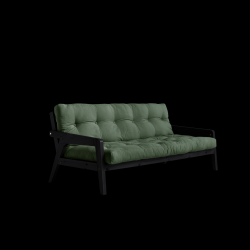 Sofabed Grab | Black Frame + Olivgrün Mattress