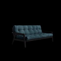 Sofabed-Greifer | Schwarzer Rahmen + benzinblaue Matratze